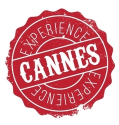 Cannes stamp rubber grunge vector