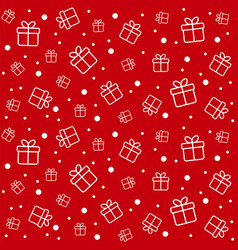 christmas seamless pattern with gift boxes vector image