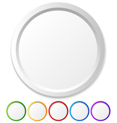 Circles shapes with empty space for icons logos vector
