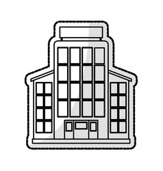 City building icon image vector