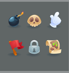 collection basic game icons for your mobile vector image