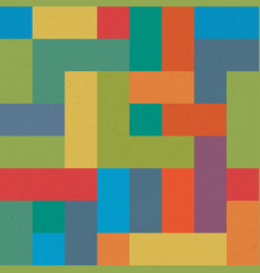 colorful brick seamless pattern abstract retro vector image vector image