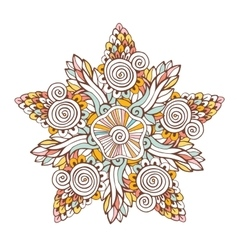 Colorful mandala Ornament for coloring vector image