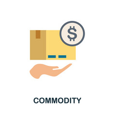 Commodity icon simple element from economic vector
