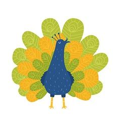 cute majestic peafowl vector image