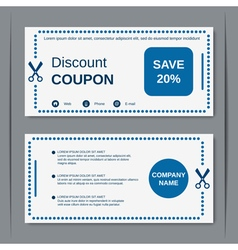 Discount coupon design template vector