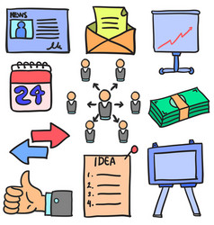 Doodle of business element various vector