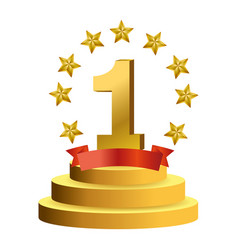 first place award symbol vector image