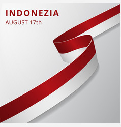 Flag indonezia 17th august vector