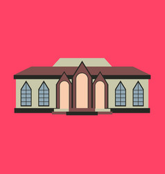 flat design of retro city house old building vector image