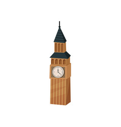 flat icon of big ben british tower with vector image