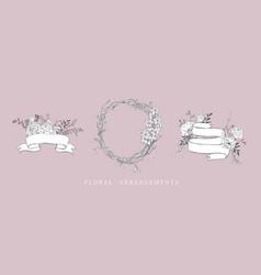 floral bouquet design wedding arrangement vector image