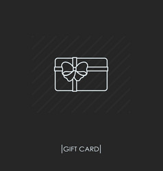 gift card outline icon isolated vector image