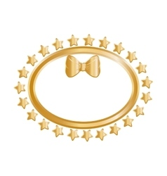 Golden stars in circle vector