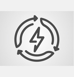green energy icon sign symbol vector image