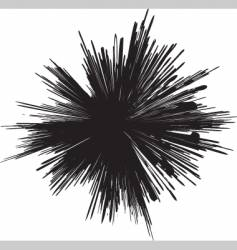 grunge explosion mark vector image vector image