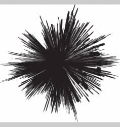 Grunge explosion mark vector