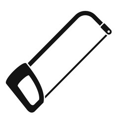 Hacksaw icon simple style vector