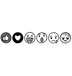 hand drawn emoticons comment social media chat vector image