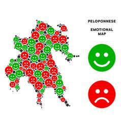 Happiness peloponnese peninsula map mosaic vector