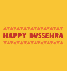 Happy dussehra - banner vector