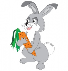 hare with carrot vector image