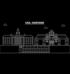 Harvard silhouette skyline usa - harvard vector