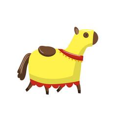 Horse in medieval horsecloth cartoon vector