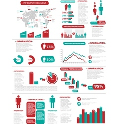 INFOGRAPHIC DEMOGRAPHICS NEW STYLE vector image