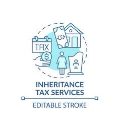 Inheritance tax services concept icon vector