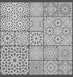 islamic ornament set arabic ramadan vector image