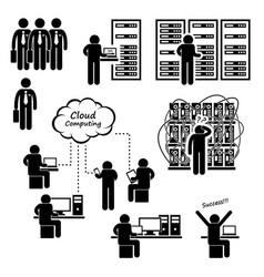 it engineer technician admin computer network vector image
