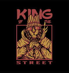 king street lion design vector image