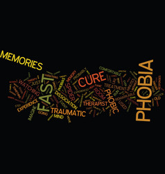 Legendary fast phobia cure text background vector