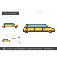 Limousine line icon vector
