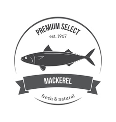 mackerel scomber emblem label vector image