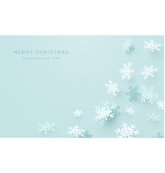 modern abstract christmas snowflakes background vector image