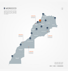 Morocco infographic map vector