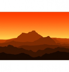 mountains at dusk vector image