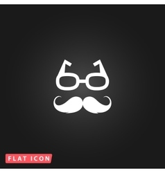 Nerd glasses and mustaches vector