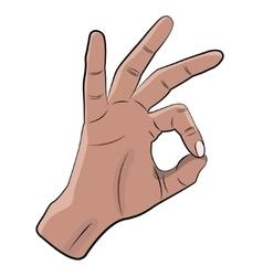 OK hand gesture vector image