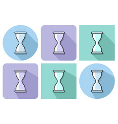 outlined icon of hourglass with parallel and not vector image
