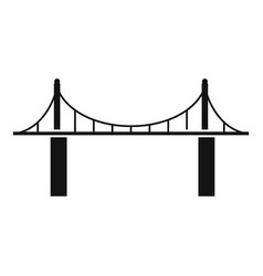 park bridge icon simple style vector image
