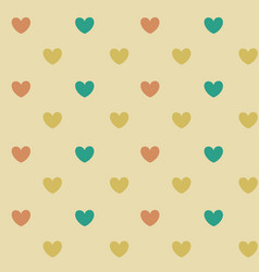 pastel heart seamless pattern background vector image