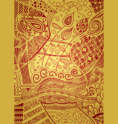 Pattern with entangle background ethnic vector