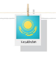 Photo of kazakhstan flag vector