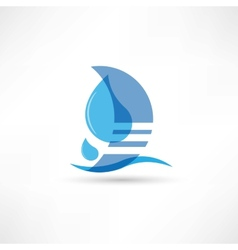 Pure and wholesome water abstraction icon vector