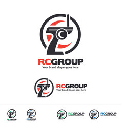 Radio control vehicle group logo vector