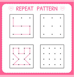 repeat pattern working page for children vector image