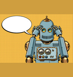 robot thinks thinker vector image